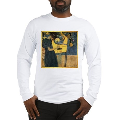 Gustav Klimt 'Music' Long Sleeve T-Shirt