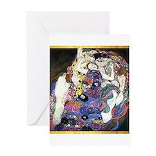 Gustav Klimt 'The Virgins' Greeting Card