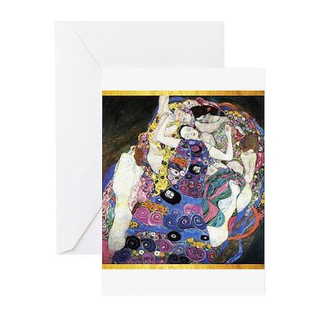 Gustav Klimt 'The Virgins' Greeting Cards (Pk of 1
