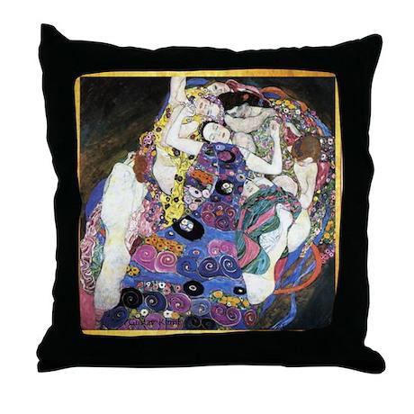 Gustav Klimt 'The Virgins' Throw Pillow
