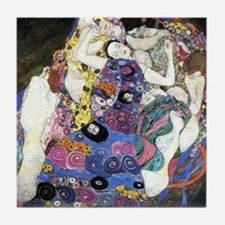Gustav Klimt 'The Virgins' Tile Coaster
