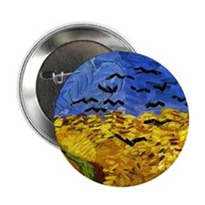 """Van Gogh 'Crows in a Field' 2.25"""" Button (100 pack"""