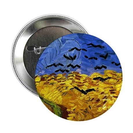"Van Gogh 'Crows in a Field' 2.25"" Button"