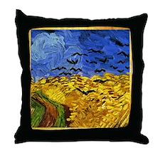 Van Gogh 'Crows in a Field' Throw Pillow