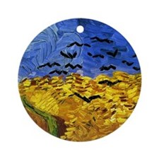 Van Gogh 'Crows in a Field' Ornament (Round)