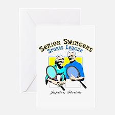Senior Swingers Sports League Greeting Card