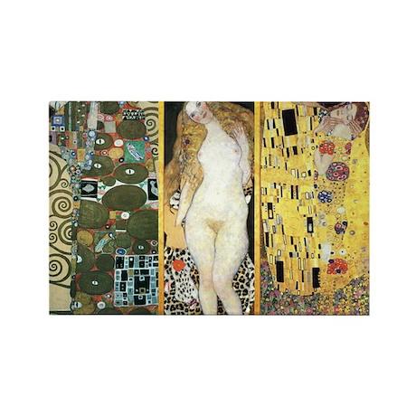 Gustav Klimt 'Couples Collag Rectangle Magnet