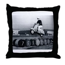 Scooter Stunt Throw Pillow