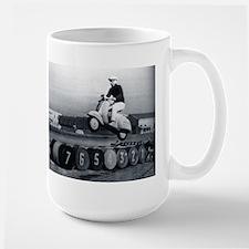Scooter Stunt Large Mug