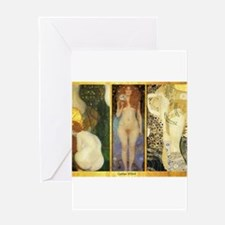Gustav Klimt 'Water Collage' Greeting Card