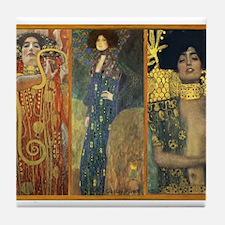 Gustav Klimt 'Dark Lady Coll Tile Coaster