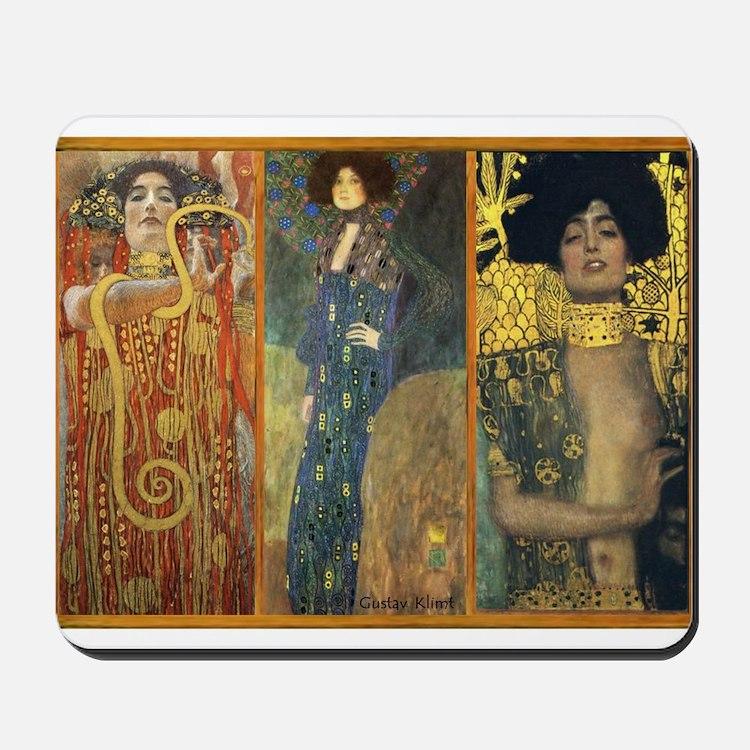 Gustav Klimt 'Dark Lady Coll Mousepad