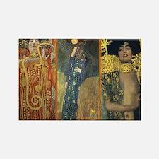 Gustav Klimt 'Dark Lady Coll Rectangle Magnet