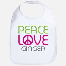 Peace Love Ginger Bib