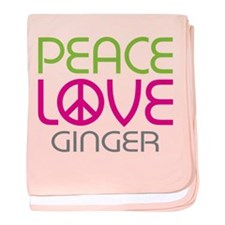 Peace Love Ginger baby blanket