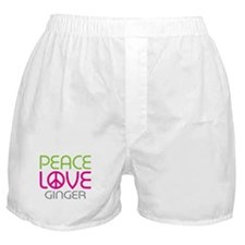 Peace Love Ginger Boxer Shorts