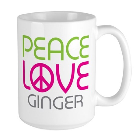Peace Love Ginger Large Mug