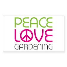Peace Love Gardening Decal