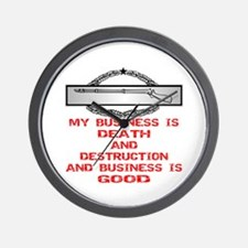 CIB Death And Destruction Wall Clock