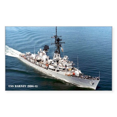 USS BARNEY Sticker (Rectangle)