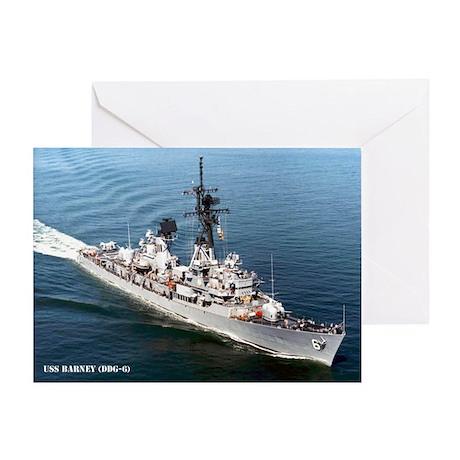 USS BARNEY Greeting Card