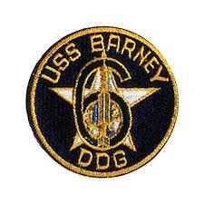 "USS BARNEY 3.5"" Button"