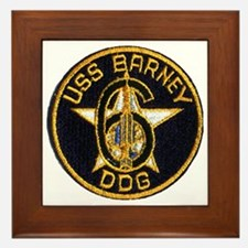 USS BARNEY Framed Tile