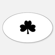 Black Shamrock on Oval Decal