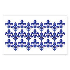 Blue Mosaic Fleur Decal