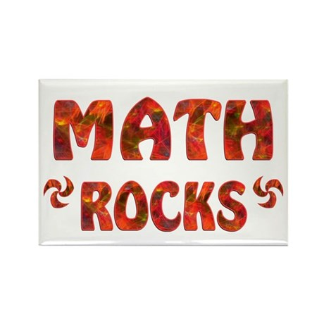Math Rocks Rectangle Magnet (10 pack)