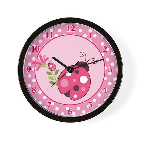 Ladybug Garden Baby Nursery Wall Clock