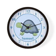 Turtle Reef Baby Nursery Wall Clock