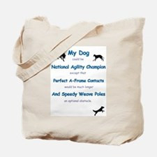Agility Humor Tote Bag