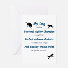 Agility Humor Greeting Card