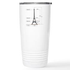 Dimensions of Eiffel Tower Travel Mug