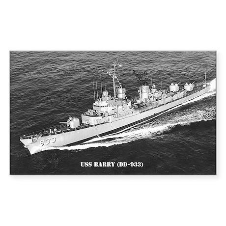 USS BARRY Sticker (Rectangle)