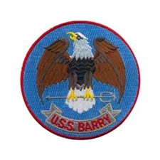 """USS BARRY 3.5"""" Button"""