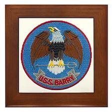 USS BARRY Framed Tile