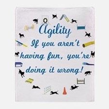 Have Fun in Agility Throw Blanket