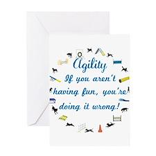 Have Fun in Agility Greeting Card