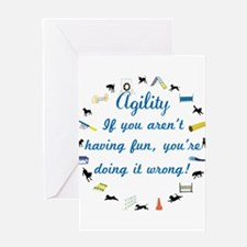 Have Fun in Agility Greeting Card