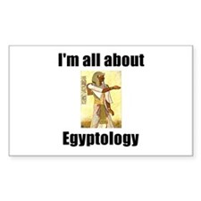 I'm All About Egyptology! Rectangle Decal