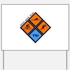 Tri Diamond Yard Sign