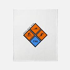 Tri Diamond Throw Blanket