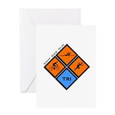 Tri Diamond Greeting Card