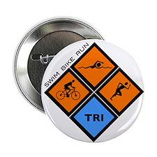 "Tri Diamond 2.25"" Button (10 pack)"