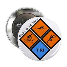 "Tri Diamond 2.25"" Button"