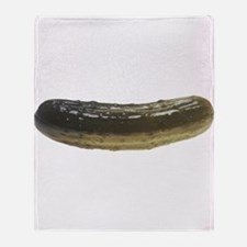 Solitary Pickle Throw Blanket