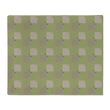 Checked in Green Pattern Throw Blanket