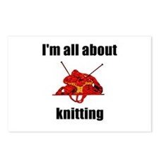 I'm All About Knitting! Postcards (Package of 8)